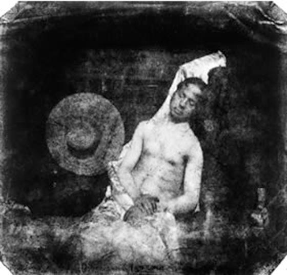 Hippolyte Bayard, Autoportrait en noyé, 1840